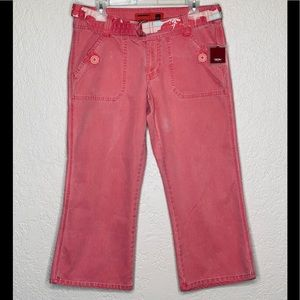 Mossimo Coral Cotton corduroy Cropped Capr…